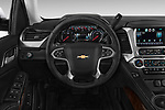 Steering wheel view of a 2015 Chevrolet Tahoe 2WD LT 5 Door SUV
