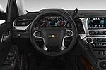 Steering wheel view of a 2017 Chevrolet Tahoe 2WD LT 5 Door SUV