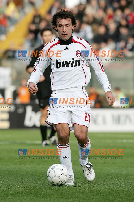 Andrea Pirlo (Milan) <br /> Italian &quot;Serie A&quot; 2006-07<br /> 17 Feb 2007 (Match Day 24)<br /> Siena-Milan (3-4)<br /> &quot;Artemio Franchi&quot;-Stadium-Siena-Italy<br /> Photographer: Andrea Staccioli INSIDE