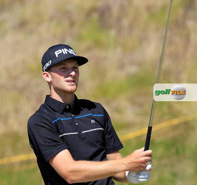 Brian Campbell (AM)(USA) tees off the par3 9th tee during Saturday's Round 3 of the 2015 U.S. Open 115th National Championship held at Chambers Bay, Seattle, Washington, USA. 6/20/2015.<br /> Picture: Golffile | Eoin Clarke<br /> <br /> <br /> <br /> <br /> All photo usage must carry mandatory copyright credit (&copy; Golffile | Eoin Clarke)