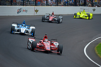 Verizon IndyCar Series<br /> Indianapolis 500 Race<br /> Indianapolis Motor Speedway, Indianapolis, IN USA<br /> Sunday 28 May 2017<br /> Graham Rahal, Rahal Letterman Lanigan Racing Honda, Marco Andretti, Andretti Autosport with Yarrow Honda, Mikhail Aleshin, Schmidt Peterson Motorsports Honda, Simon Pagenaud, Team Penske Chevrolet<br /> World Copyright: F. Peirce Williams<br /> LAT Images