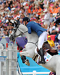 Olympic Games 2012; Equestrian - Venue: Greenwich Park. Kevin Staut (FRA).Horse: Silvana.
