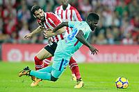 Athletic de Bilbao's Raul Garcia (l) and FC Barcelona's Samuel Umtiti during La Liga match. October 28,2017. (ALTERPHOTOS/Acero) /NortePhoto.com