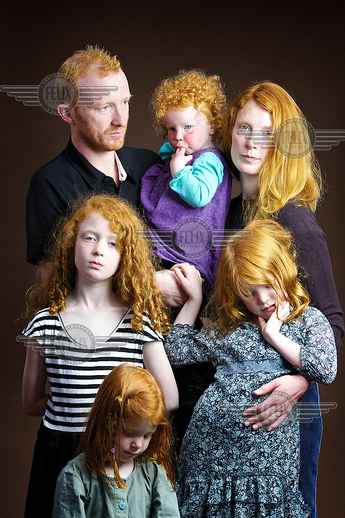 Clockwise from top left: Steven McKay (37), Esther (2),  Rebecca (33), Chloe (6), Lois (3) and Abigail (7).<br /> <br /> Steven McKay, 37, from Perth.<br /> <br /> 'People make judgements about your character by your hair colour… Throughout life it has been helpful in developing character, I was bullied at school and thought it was because of my red hair but it was probably because I was annoying, I would use my hair as an excuse.'<br /> <br /> 'Before kids people would ask if we were brother and sister which is outrageous! It's gingerism! They think all people with ginger hair look the same… I said to myself The next person who says that I will lamp [punch] them but then it was a church minister so I reneged on my vow.'<br /> <br /> Rebecca McKay, 33, stay at home mum, from Perth.<br /> <br /> At the library people come up and say You must hear this all the time but I have to say. I lived in Colombia for a year and people thought my hair was dyed.'<br /> <br /> 'I am one of five and all have it but not as bright as mine. It's not sought after or admired. There is an Irn Bru advert where they are shouting at red-hairs kids and she drinks it with the slogan Irn Bru gets you through! I think my four daughters are wonderful as God made them and I am content with what God has given them.'