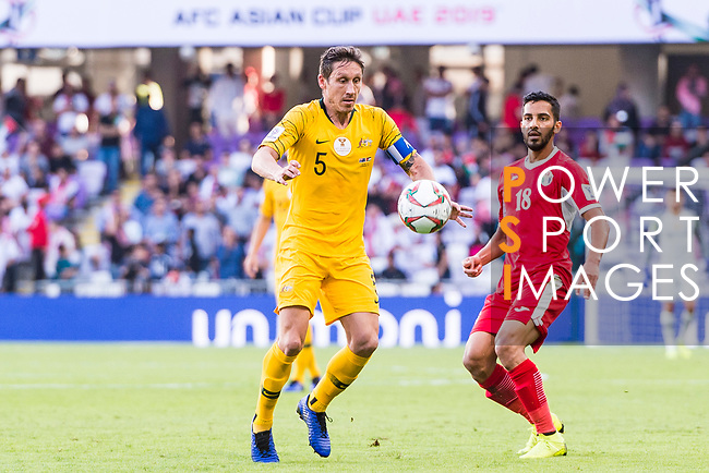 Mark Milligan of Australia in action during the AFC Asian Cup UAE 2019 Group B match between Australia (AUS) and Jordan (JOR) at Hazza Bin Zayed Stadium on 06 January 2019 in Al Ain, United Arab Emirates. Photo by Marcio Rodrigo Machado / Power Sport Images