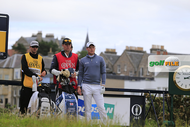 Danny WILLETT (ENG) on the 2nd tee during Sunday's Round 3 of the 144th Open Championship, St Andrews Old Course, St Andrews, Fife, Scotland. 19/07/2015.<br /> Picture Eoin Clarke, www.golffile.ie