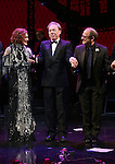 Glenn Close, Andrew Lloyd Webber and Lonny Price during the Opening Night Curtain Call bows for Andrew Lloyd Webber's 'Sunset Boulevard' at the Palace Theatre on February 9, 2017 in New York City.