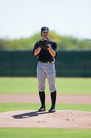 Chicago White Sox starting pitcher Lincoln Henzman (30) gets ready to deliver a pitch during an Instructional League game against the Kansas City Royals at Camelback Ranch on September 25, 2018 in Glendale, Arizona. (Zachary Lucy/Four Seam Images)
