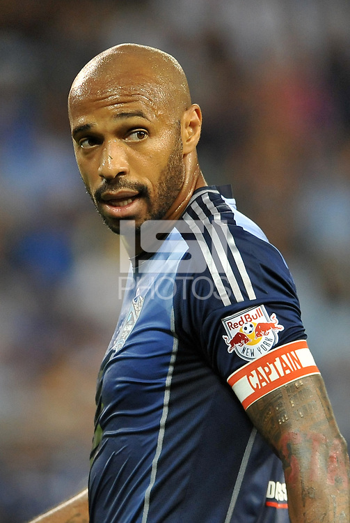 Sporting Park, Kansas City, Kansas, July 31 2013:<br /> Thierry Henry (14) forward MLS All-Stars .<br /> MLS All-Stars were defeated 3-1 by AS Roma at Sporting Park, Kansas City, KS in the 2013 AT & T All-Star game.
