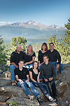 family portrait in Rocky Mountain National Park, Colorado USA