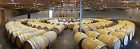 circular barrel aging cellar ch gd barrail lamarzelle figeac saint emilion bordeaux france