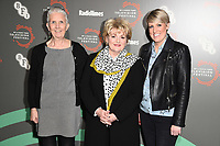 "Ann Cleeves, Brenda Blethyn and Steph McGovern<br /> at the ""Vera"" photocall as part of the BFI & Radio Times Television Festival 2019 at BFI Southbank, London<br /> <br /> ©Ash Knotek  D3494  13/04/2019"