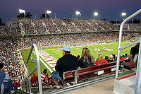 16 September 2006: Fans during Stanford's 37-9 loss to Navy during the grand opening of the new Stanford Stadium in Stanford, CA.