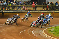 Heat 5 Nicoloai Klindt of Poole Pirates leads during Poole Pirates vs King's Lynn Stars, SGB Premiership Shield Speedway at The Stadium on 11th April 2019
