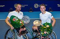 Rotterdam, Netherlands, December 16, 2017, Topsportcentrum, Ned. Loterij NK Tennis, Winners Wheelchair man's double final: Maikel Scheffers (L) and Ruben Spaargaren (NED)<br /> Photo: Tennisimages/Henk Koster