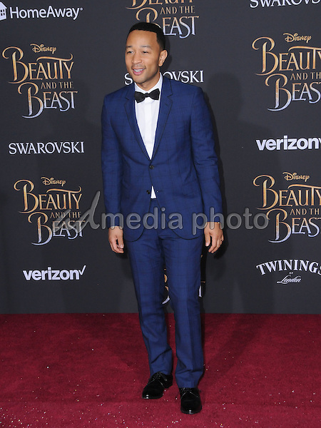 "02 March 2017 - Hollywood, California - John Legend. Los Angeles premiere of Disney's ""Beauty and the Beast' held at El Capitan Theatre. Photo Credit: Birdie Thompson/AdMedia"