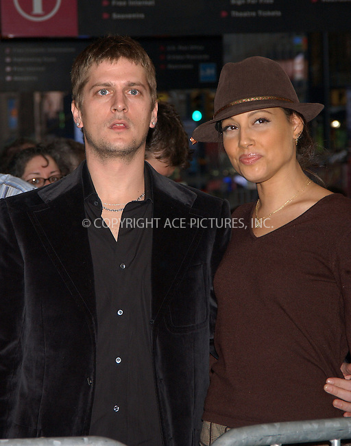 """WWW.ACEPIXS.COM . . . . . ....APRIL 25, 2006 - NEW YORK CITY....Rob Thomas and wife Marisol attend the opening night of the Anne Rice/Elton John musical """"Lestat"""" at the Palace Theatre in New York City.......Please byline: KRISTIN CALLAHAN - ACEPIXS.COM.. . . . . . ..Ace Pictures, Inc:  ..(212) 243-8787 or (646) 679 0430..e-mail: picturedesk@acepixs.com..web: http://www.acepixs.com"""