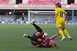 FC Barcelona vs Chelsea FC: 1-1.<br /> Maren Mjelde vs Toni Duggan.