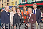 Eamon de Stafort, Kathleen Foley, Yvonne Quill, Ferris, Donal O'Grady Killarney Mayor and Eugene Ferris celebrating their success at the Killarney Tidy town's celebration street party on Sunday
