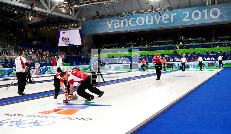 Vancouver, British Columbia, Canada--Round Robin Curling, Vancouver Olympic Center.
