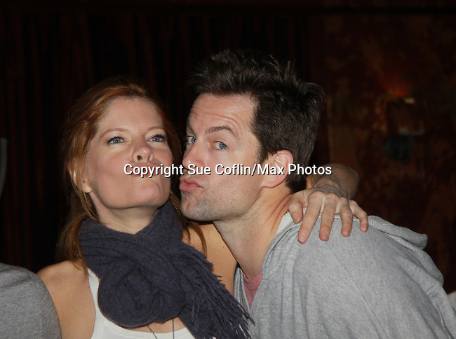 """Michelle Stafford and Michael Muhney - Drama Brunch - The Young & The Restless stars came for the fans with a brunch and photos during the Soap Opera Festivals Weekend - """"All About The Drama"""" on March 25, 2012 at Bally's Atlantic City, Atlantic City, New Jersey.  (Photo by Sue Coflin/Max Photos)"""