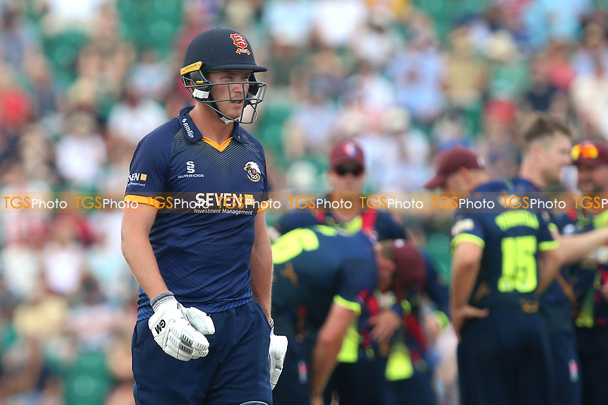 Tom Westley of Essex leaves the field having been dismissed for 13 during Kent Spitfires vs Essex Eagles, NatWest T20 Blast Cricket at The County Ground on 9th July 2017