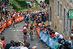 The peloton climb Mur de Huy for the 2nd time during the 2019 La Fleche Wallonne, running 195km from Ans to Huy, Belgium, 24 April 2019.<br /> Photo by Thomas van Bracht / PelotonPhotos.com / Cyclefile