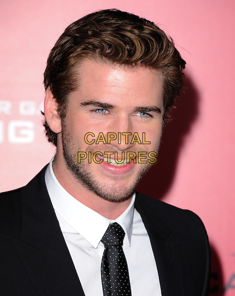 LOS ANGELES, CA - NOVEMBER 18: Liam Hemsworth at &quot;The Hunger Games: Catching Fire&quot; Los Angeles Premiere held at Nokia Theatre LA Live on November 18th, 2013 in Los Angeles, California, USA.                                                                            <br /> CAP/RKE/DVS<br /> &copy;DVS/RockinExposures/Capital Pictures