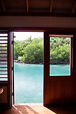 JAMAICA, Oracabessa. View from from a bungalow at the Goldeneye Hotel and Resort.