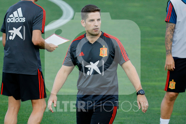 Robert Moreno during the Trainee Session at Ciudad del Futbol in Las Rozas, Spain. September 02, 2019. (ALTERPHOTOS/A. Perez Meca)