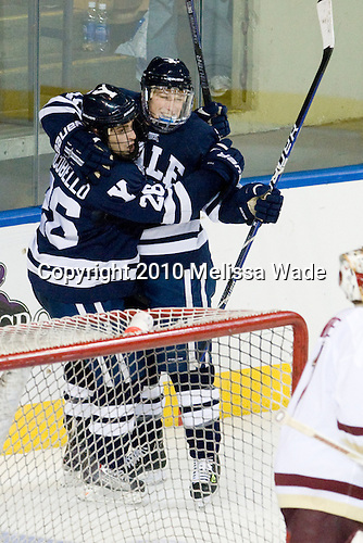 Mark Arcobello (Yale - 26), Andrew Miller (Yale - 17) - The Boston College Eagles defeated the Yale University Bulldogs 9-7 in the Northeast Regional final on Sunday, March 28, 2010, at the DCU Center in Worcester, Massachusetts.