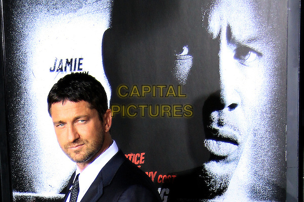 "GERARD BUTLER.The Overature Film L.A. Premiere of ""Law Abiding Citizen"" held at The Grauman's Chinese Theater in Hollywood, California, USA. .October 6th, 2009 .headshot portrait grey gray black stubble facial hair .CAP/ADM/TC.©T. Conrad/AdMedia/Capital Pictures."