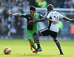 Remy Cabella of Newcastle United tackled by Youssuf Mulumbu of West Bromwich Albion - Barclays Premier League - WBA vs Newcastle Utd - Hawthorns Stadium - West Bromwich - England - 9th November 2014  - Picture Simon Bellis/Sportimage