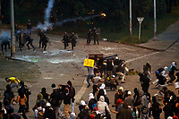 MEDELLIN, COLOMBIA - NOVEMBER 21: University students clash with members of the Mobile Anti-Disturbance Squadron (ESMAD). Hundreds of Colombians protest against president Iván Duque and Colombia's government policies on November 21, 2019 in Medellin, Colombia. Thousands of anti-government protesters took the streets during a nationwide strike, where at least 200.000 people between students, teachers and labor union organizers marched across the country being the biggest march and protest in recent years (Photo by Fredy Builes / VIEWpress)
