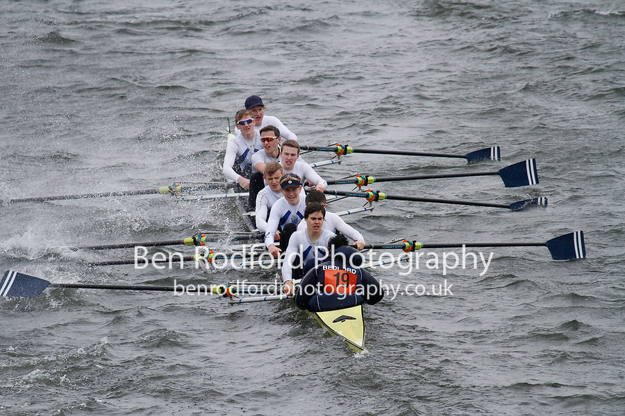Crew: 19  Bedford Sch  Event: School 1st eights<br /> <br /> Schools' Head of the River 2017<br /> <br /> To purchase this photo, or to see pricing information for Prints and Downloads, click the blue 'Add to Cart' button at the top-right of the page.