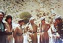Iraq 1980   <br /> In Nawzeng, Jalal Talabani  with Salahadin Mottadi and Ibrahim Ali Zadeh, Iranian Kurdish leaders <br /> Irak 1980<br /> A Nawzeng, Jalal Talabani avec Salahadin Mottadi et Ibrahim Ali Zadeh, leaders kurdes iraniens