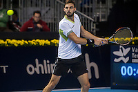 VALENCIA, SPAIN - OCTOBER 28: Marcel Granollers during Valencia Open Tennis 2015 on October 28, 2015 in Valencia , Spain