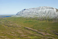 Fjall remote farmsite, mount Fjallsoxl,  viewing northeast, Skagabyggd former Skagahreppur