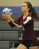 Natalie Zakrzewski #17 of Whitman gets ready to serve during a non-league varsity girls volleyball match against Centereach at New York Institute of Technology in Old Westbury on Wednesday, Sept. 20, 2017. Whitman rallied from a two-set deficit to win 21-25, 16-25, 25-16, 25-22, 25-19.