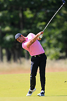 Julian Suri (USA) on the 1st during Round 2 of the Aberdeen Standard Investments Scottish Open 2019 at The Renaissance Club, North Berwick, Scotland on Friday 12th July 2019.<br /> Picture:  Thos Caffrey / Golffile<br /> <br /> All photos usage must carry mandatory copyright credit (© Golffile | Thos Caffrey)