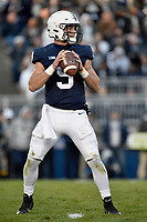 STATE COLLEGE, PA - OCTOBER 13: Penn State QB Trace McSorley (9) drops back to pass. The Michigan State Spartans defeated the Penn State Nittany Lions 21-17 on October 13, 2018 at Beaver Stadium in State College, PA. (Photo by Randy Litzinger/Icon Sportswire)