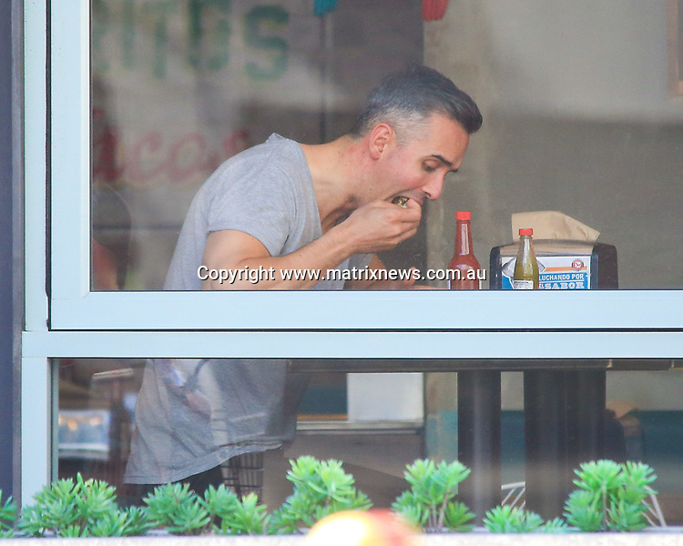 31 MARCH 2017 SYDNEY AUSTRALIA<br /> WWW.MATRIXNEWS.COM.AU<br /> <br /> EXCLUSIVE PICTURES<br /> <br /> MAFS contestant Anthony Manton is seen talking to a mystery female before having lunch in Sydney.<br /> <br /> <br /> Note: All editorial images subject to the following: For editorial use only. Additional clearance required for commercial, wireless, internet or promotional use.Images may not be altered or modified. Matrix makes no representations or warranties regarding names, trademarks or logos appearing in the images.