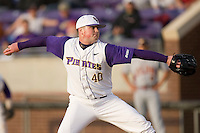 Starting pitcher Mike Anderson #40 of the East Carolina Pirates in action versus the Elon Phoenix at Clark-LeClair Stadium March 29, 2009 in Greenville, North Carolina. (Photo by Brian Westerholt / Four Seam Images)