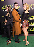 VANCOUVER, BC - OCTOBER 22: Willa Holland, Colton Haynes and Emily Bett Rickards at the 100th episode celebration for tv's Arrow at the Fairmont Pacific Rim Hotel in Vancouver, British Columbia on October 22, 2016. Credit: Michael Sean Lee/MediaPunch
