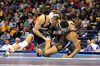 ST. LOUIS, MO - MARCH 17: David Taylor of the Penn State Nittany Lions wrestles Brandon Hatchett of Lehigh in the 165 pound finals during the NCAA Wrestling Championships on March 17, 2012 at the ScottTrade Center in St. Louis, Missouri. (Photo by Hunter Martin/Getty Images) *** Local Caption *** David Taylor;Brandon Hatchett