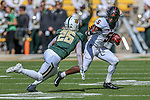 Oklahoma State Cowboys running back Justice Hill (5) in action during the game between the OSU Cowboys and the Baylor Bears at the McLane Stadium in Waco, Texas.
