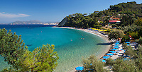 Greece, Aegean Islands, Southern Sporades, Island Samos: near resort Kokkari, Tsamadou Beach | Griechenland, Aegaeis, Suedliche Sporaden, Insel Samos: Tsamadou Beach beim Urlaubsort Kokkari