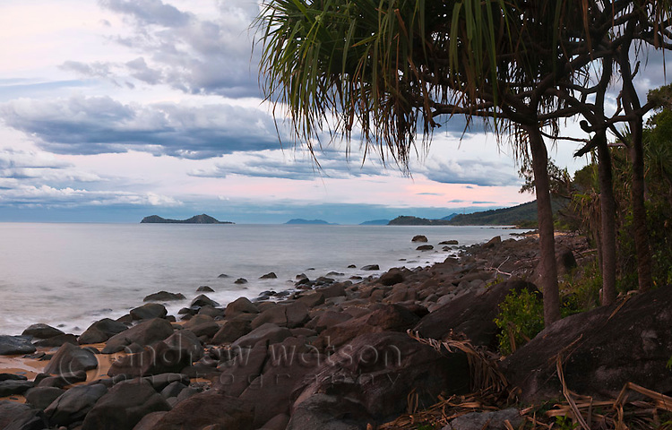 Dusk over the Coral Sea near Ellis Beach, Cairns, Queensland, Australia