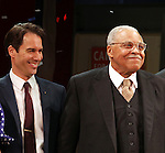 Eric McCormack & James Earl Jones.during the Broadway Opening Night Performance Curtain Call for 'Gore Vidal's The Best Man' at the Gerald Schoenfeld Theatre in New York City on 4/1/2012