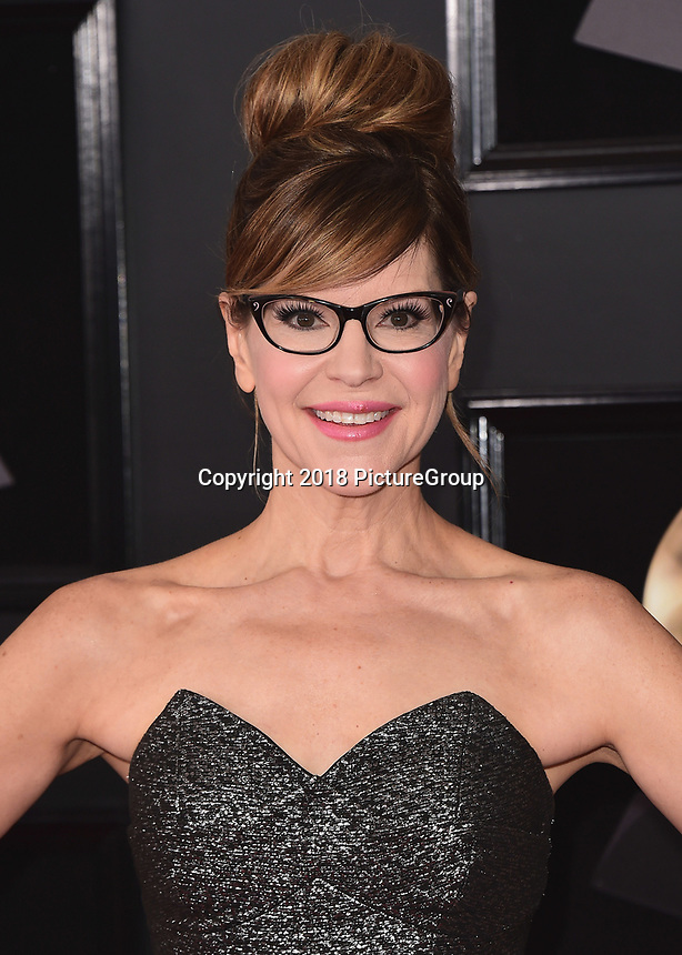 NEW YORK - JANUARY 28:  Lisa Loeb at the 60th Annual Grammy Awards at Madison Square Garden on January 28, 2018 in New York City. (Photo by Scott Kirkland/PictureGroup)